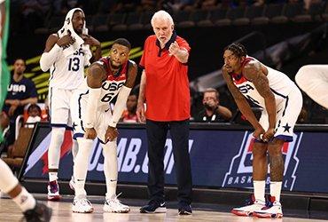 Сборная США по баскетболу проиграла второй товарищеский матч подряд перед Олимпиадой