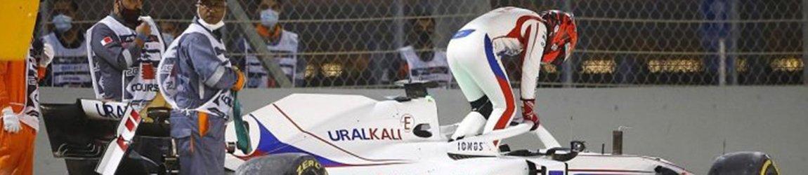 Никита Мазепин разбил болид в своей первой гонке Формулы-1