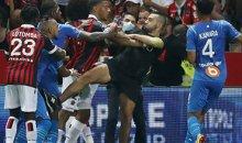 Драка фанатов с игроками в Ницце — техническое поражение получил «Марсель»
