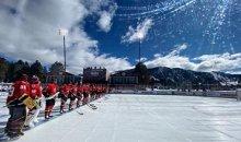 Долгожданный матч NHL под открытым небом прервал растопленный лёд